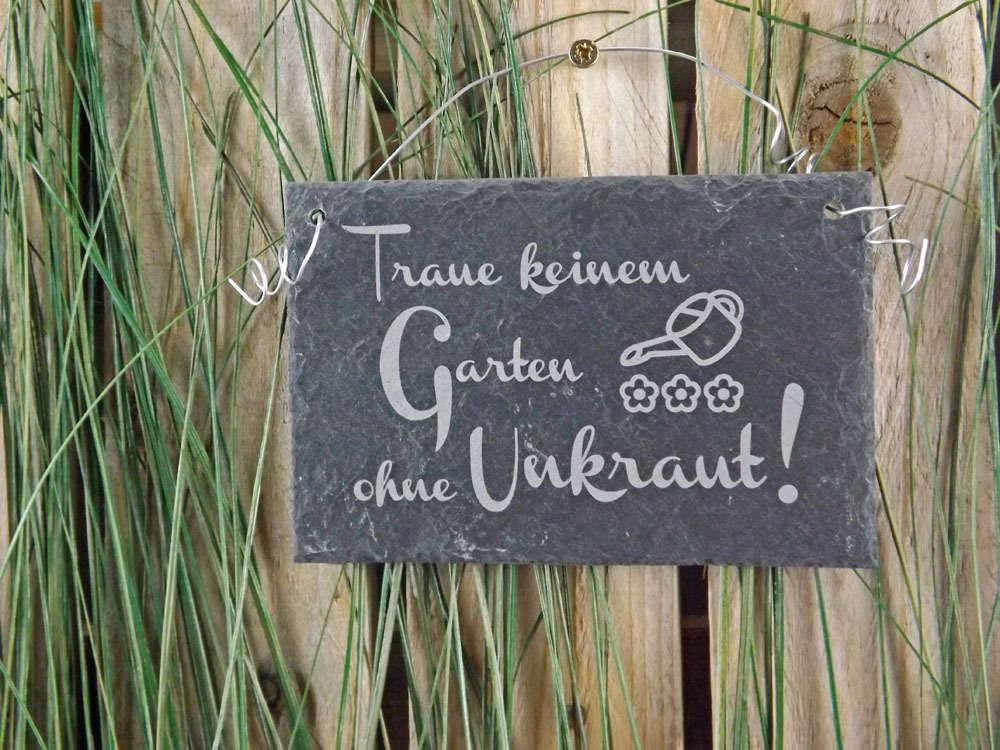 Schild Traue Keinem Garten Gravurgeschenke